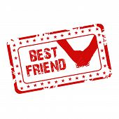 picture of friendship day  - illustration of a grungy stamp for Friendship Day - JPG