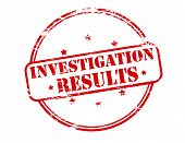 image of investigation  - Rubber stamp with text investigation results inside vector illustration - JPG