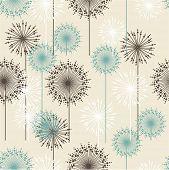foto of chrysanthemum  - Vintage floral pattern in pastel colors - JPG
