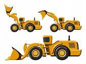 picture of wheel loader  - Classic wheel loader set - JPG
