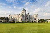 pic of throne  - The Ananta Samakhom Throne Hall Thailand white house in Royal Dusit Palace Bangkok Thailand with blue sky - JPG