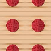 ������, ������: Retro Fold Red Circles On Stripes