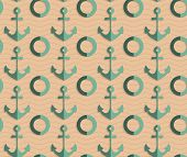 ������, ������: Retro Fold Sea Green Anchors