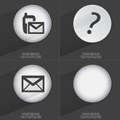 foto of sms  - SMS Question mark Message icon sign - JPG