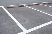 pic of parking lot  - Outdoor empty space at car parking lot - JPG