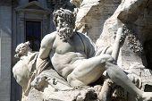 picture of piazza  - Fountain Zeus in Bernini - JPG