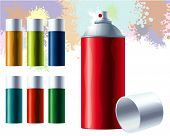 stock photo of ozone layer  - Graffiti color spray - JPG