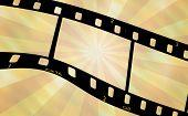 Filmstrip On Burst Background