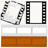 Vector Filmstrips Collection Includes With And Without Grunge Effect