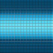 Blue Mosaic Tile Background