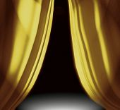 Gold Drapes On Stage