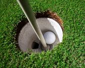 Hole In One no golfe
