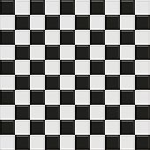 Black And White Glossy Checkered Seamless Tiles, See Vector Tiles In My Portfolio