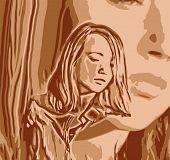 Vector Girl Reflected