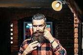 Bearded Man With Scissors poster