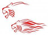 Versión de vector. Signo del Tigre rojo. También disponible en la versión JPEG