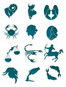 Vector version. Set of horoscope symbols for design isolated on white. Jpeg version is also availabl