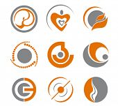 Set of different abstract symbols for design. Jpeg version is also available