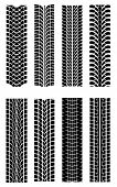 stock photo of street-rod  - Set of tire shapes - JPG
