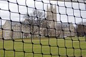 Soccer Net At A Seminary