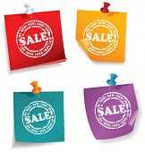 Sale Discount Advertisement on Note papers