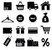 Shopping icon. Vector