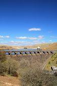 Vertical View Of The Craig Goch Reservoir, Elan Valley, Wales.