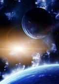 pic of space stars  - Space flare - JPG