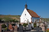 Country Church And Cemetary In France