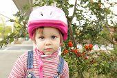 Little Girl With Helmet