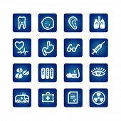 image of bronchus  - medicine and health icons set - JPG