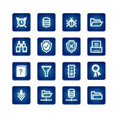 file server icons on the blue background