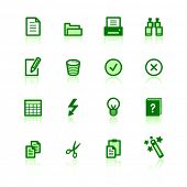 green document icons