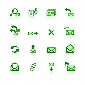 green mail icons