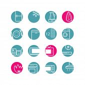 circle household appliances icons