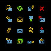 neon e-mail icons (raster)