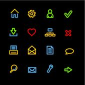 neon basic web icons (raster)