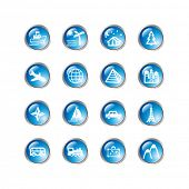 blue drop travel icons