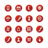 red sticker software icons