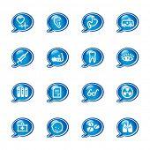 ícones da medicina de bolha