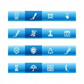 Blue bar software icons