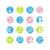 spring circle image viwer icons