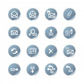 blue sticker e-mail icons