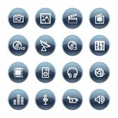 Mineral drop media icons