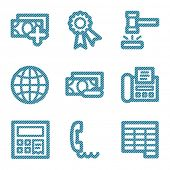 Blue line finance 2 contour icons V2