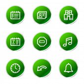 Organizer icons, green stickers series