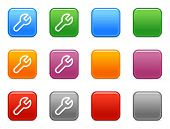 Color buttons with spanner icon