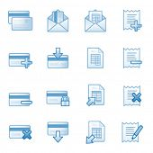 Banking web icons set 2, blue series