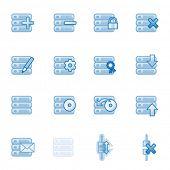 Server web icons, blue series