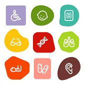 Medicine web icons set 2, colour spots series